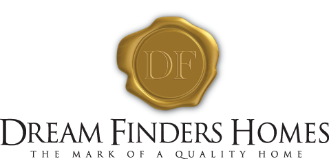 Dream Finders Homes In Black With Seal And Mark Of A Quality Home Trasparent Bkgrd