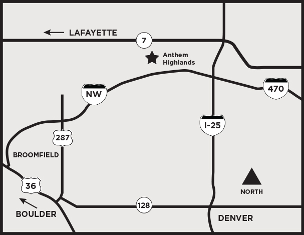 Anthem Map | Parade of Homes Denver
