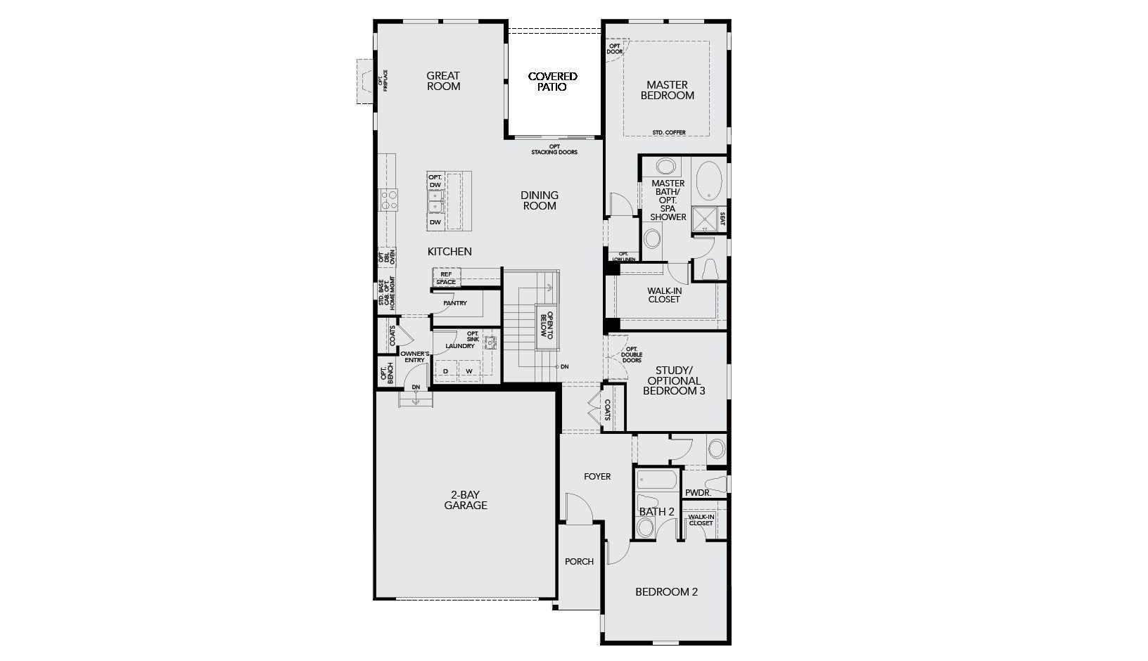 4844 Basalt Ridge Circle Tri Pointe Floorplan 4007 Firstfloor