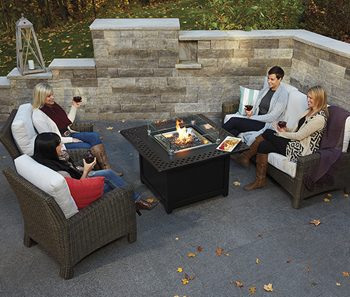 Napoleon Kensington FireTable from Fireplace Warehouse ETC makes any outdoor spacetheperfect place to entertain