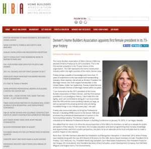 Article on HBA Appointing First Female President