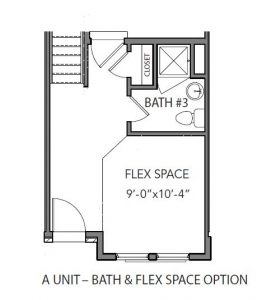 A Unit First Floor With Flex Space