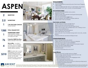 Cornerstone Townhomes Brochure