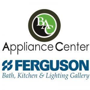 BAC Appliance Center and Ferguson Bath, Kitchen & Lighting Gallery logos