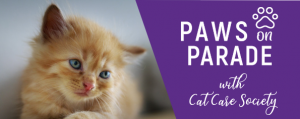 Paws On Parade Cat Care Society Event Landing Page Header