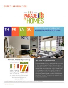 2020 Parade Of Homes Entry Materials