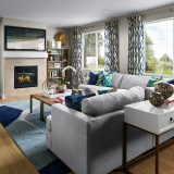 Meritage Senderos Clear Creek Castlewood Family Room