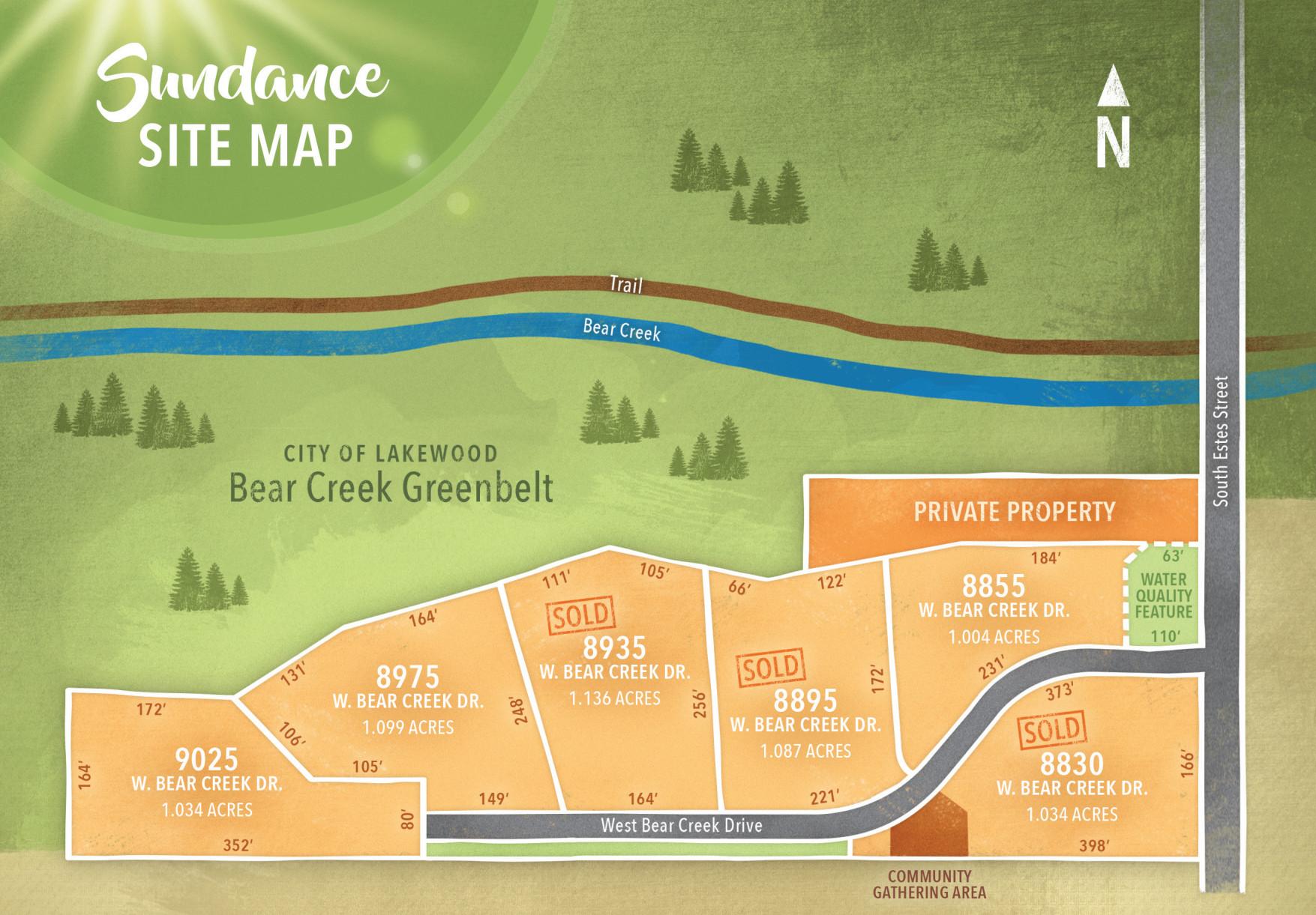 Sundance Custo Home Community Site Map
