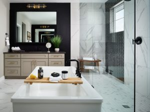 Shavano Primary Bathroom with Two Vanities