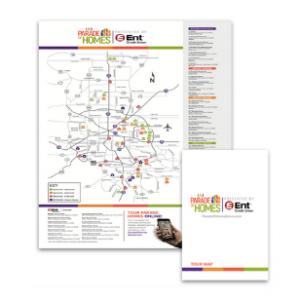 Print Map Square Graphic